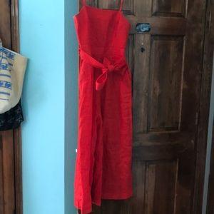 J. Crew red jumpsuit